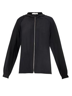 Colen hooded silk jacket