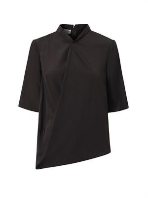 Darrel draped-front blouse