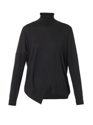 Wool and silk-blend roll-neck sweater