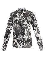 Wilson flower-print silk blouse