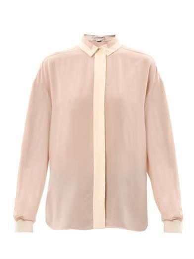 Stella McCartney Bi-colour silk blouse