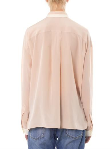 Stella McCartney Bi-colour silk blouse