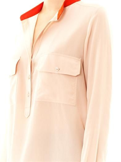 Stella McCartney Estelle silk chest pocket blouse