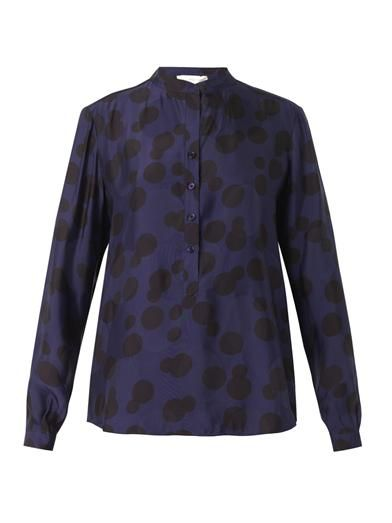 Stella McCartney Eva polka-dot-jacquard blouse