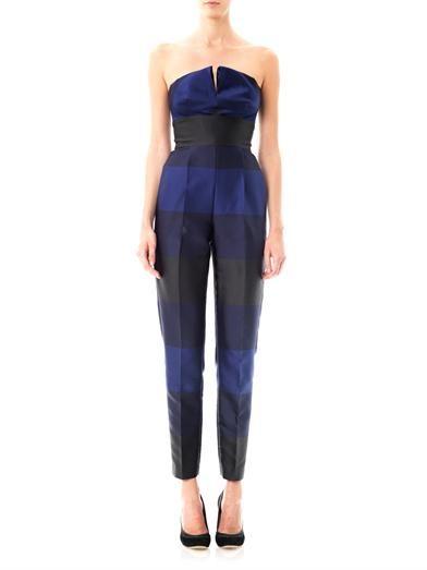 Stella McCartney Valerie strapless stripe jumpsuit