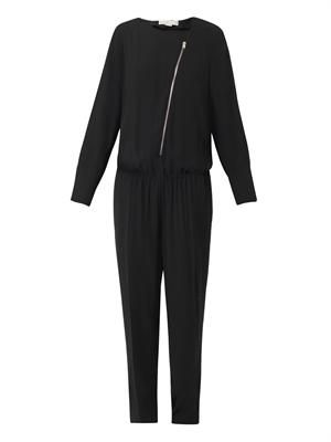 Zip-front jumpsuit