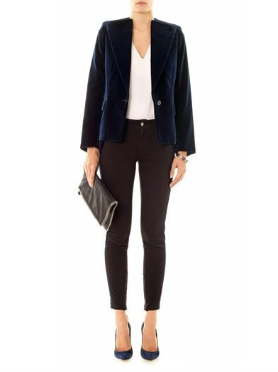 Stella McCartney Georgie velvet blazer