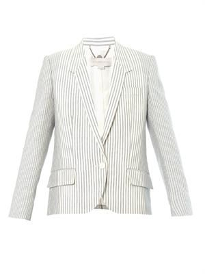 Single-breasted cotton-ticking blazer