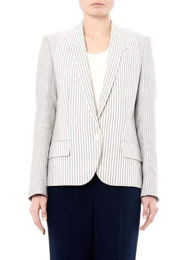 Stella McCartney Single-breasted cotton-ticking blazer