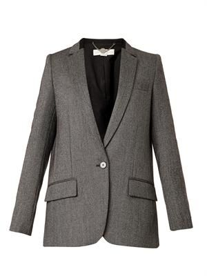 Brodie bird's-eye wool jacket