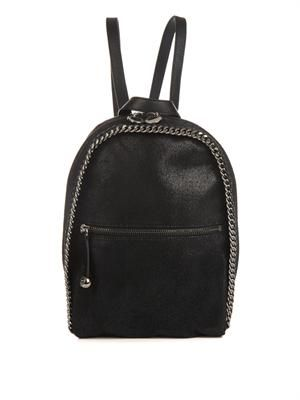 Falabella faux-suede backpack