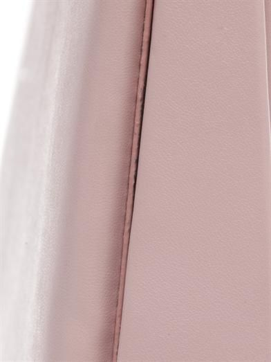 Stella McCartney Origami faux-leather peekaboo clutch
