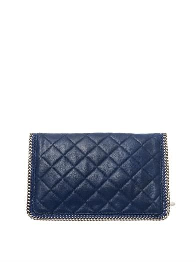 Stella McCartney Falabella quilted faux-suede clutch