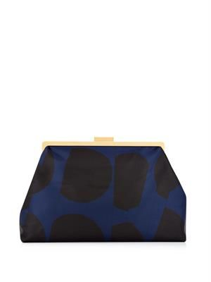 Beckett oversized satin clutch
