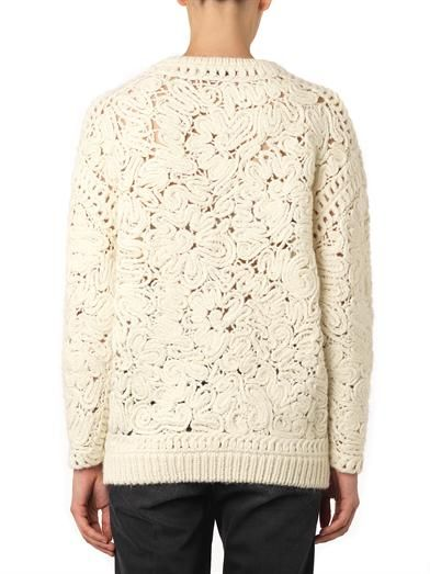 Stella McCartney Crochet embroidered sweater
