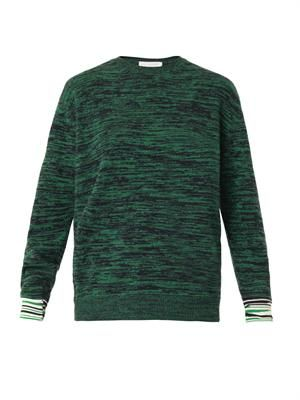 Marl-knit crew-neck sweater