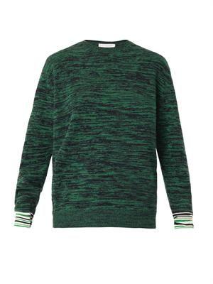 Marl-knit crew-neck sweater