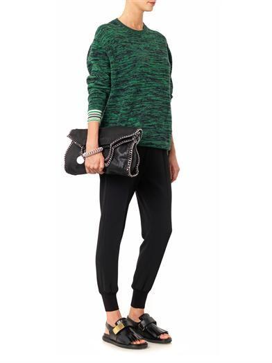 Stella McCartney Marl-knit crew-neck sweater