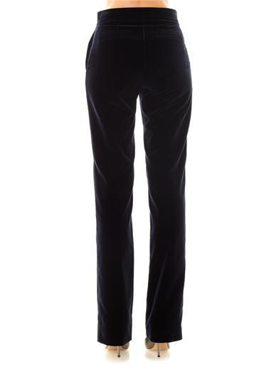 Stella McCartney Luciana velvet tailored trousers