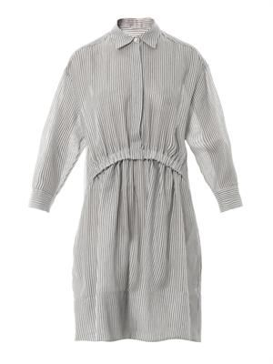 Steffi striped cheesecloth shirt-dress