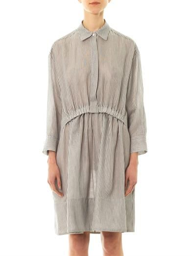 Stella McCartney Steffi striped cheesecloth shirt-dress