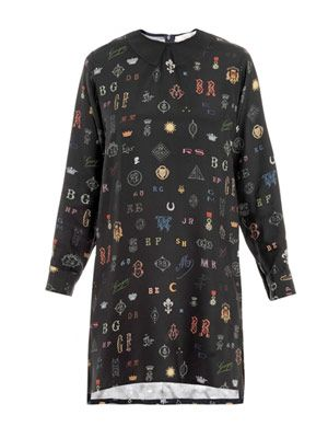 Duke monogram-print shirt dress
