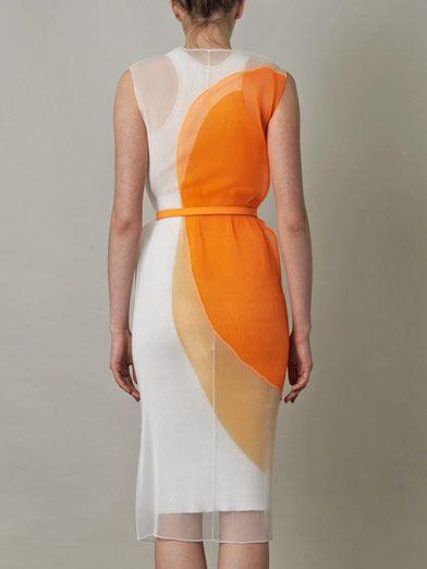 Stella McCartney Odilia organza and knit circle dress