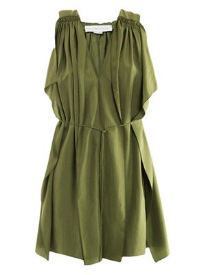 Kaia washed-silk dress