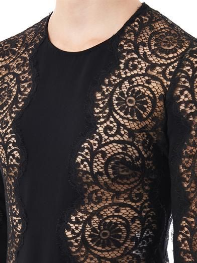 Stella McCartney Florence lace panel dress