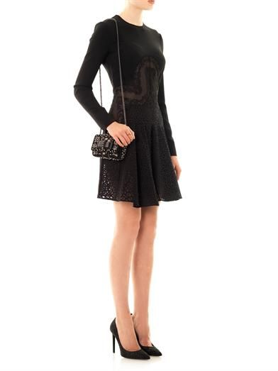 Stella McCartney Olga lace and broderie anglaise fitted dress
