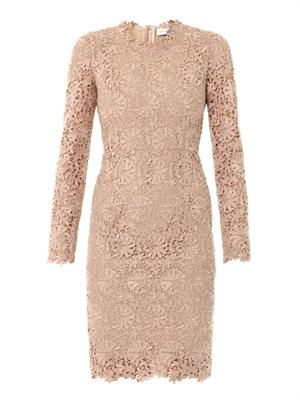 Lise lace fitted dress