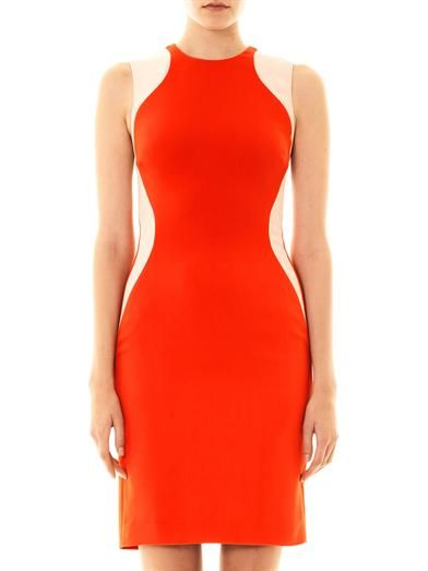 Stella McCartney Victoria bicolour fitted miracle dress