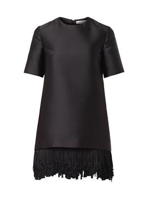 Aude fringe-hem dress