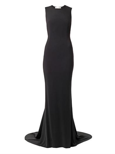 Stella McCartney Bianca mesh-back cady gown