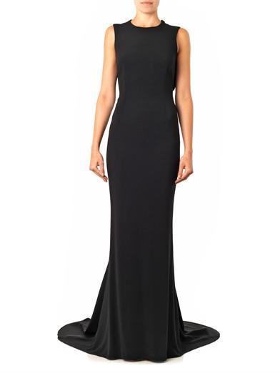 Stella McCartney Bianca mesh-back cady gown