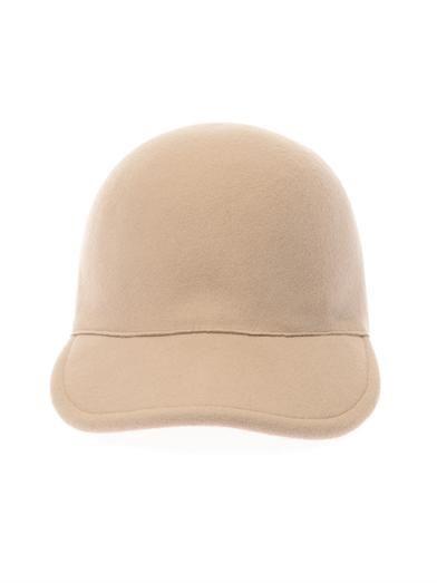 Stella McCartney Felt-wool baseball cap