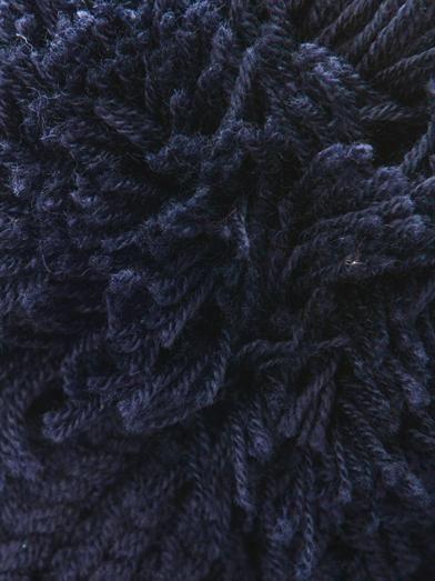 Stella McCartney Pompom ribbed-knit wool beanie