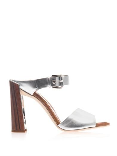 Stella McCartney Double strap metallic sandals