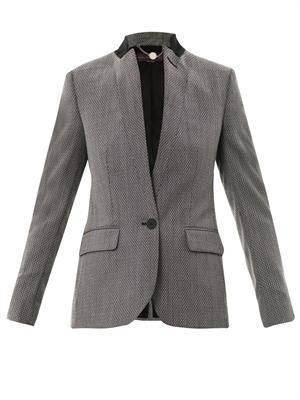 Floris micro-tweed single-breasted jacket