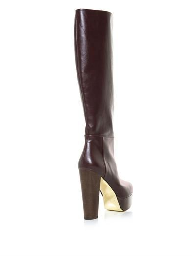 Stella McCartney Bailey knee-high platform boots