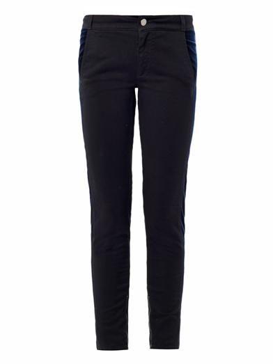 Stella McCartney Tuxedo mid-rise skinny jeans