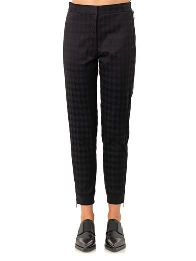 Stella McCartney Dalmi hound's-tooth jacquard trousers
