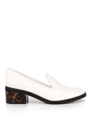 Corinne faux-leather loafers