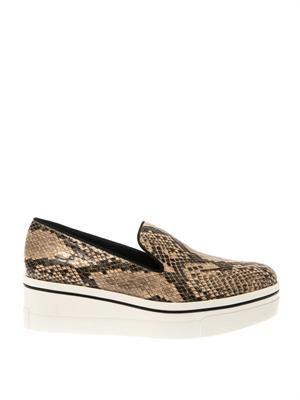 Corinne printed platform loafers