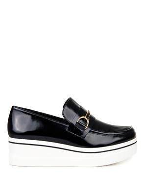 Binx faux-leather platform loafers