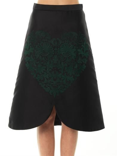 Stella McCartney Embroidered-heart A-line skirt