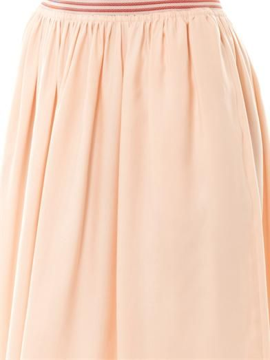 Stella McCartney Lucy washed silk-blend midi skirt