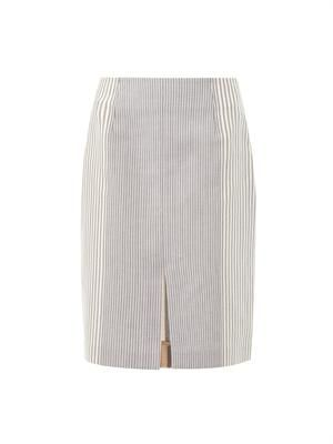 Nina cotton ticking skirt