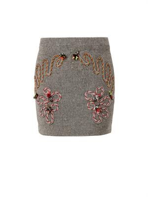 Fiona embroidered mini skirt