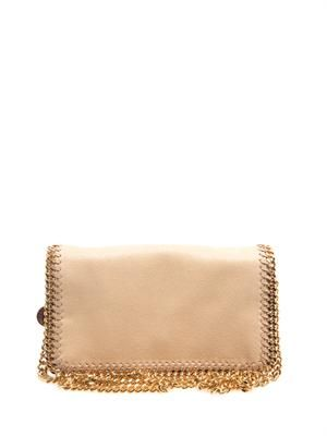Falabella faux-suede cross-body bag